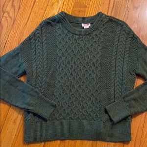 Mossimo brand xs sweater forest green color